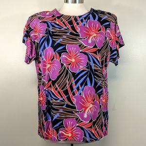 Vintage Tropical Print TShirt